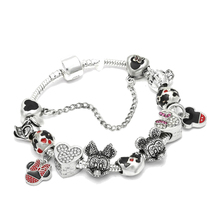 Mickey Couple and Donald Duck Charms Friendship Bracelet For Women Lovers Fit Charm DIY Making Jewelry
