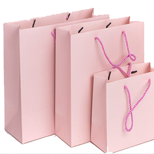 20 pcs Custom Logo Printed Thick Grossy White Paper Bag 250grams Cardboard Paper Shopping Bags with String