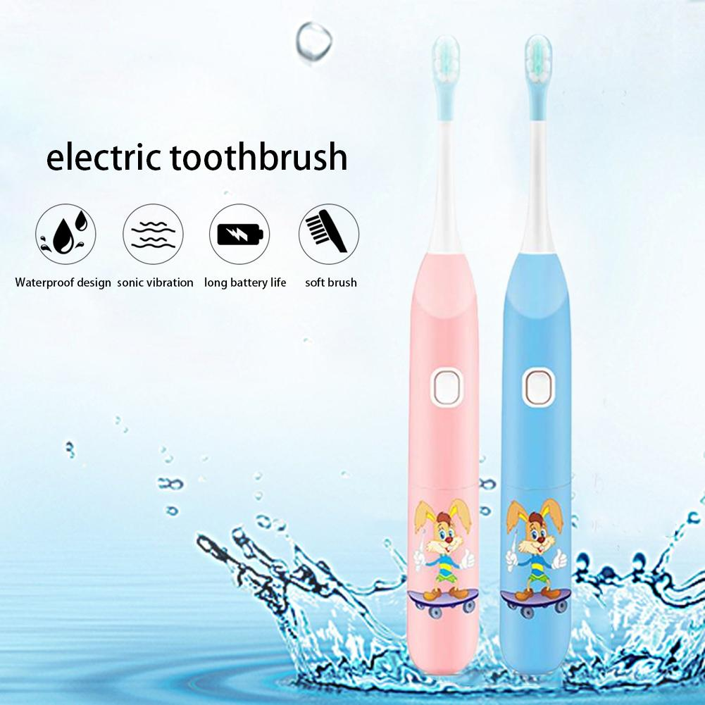 Children Cartoon Electric Toothbrush Soft Hair Electric Teeth Brush Oral Health Soft Tooth Brush For Kids Battery Powered image