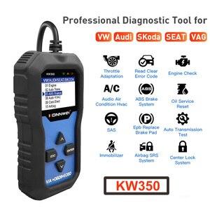 Image 2 - KONNWEI KW350 VAG arabalar için OBD2 aracı tam sistem teşhis aracı ABS hava yastığı sıfırlama yağ servis işık EPB sıfırlama fonksiyonu