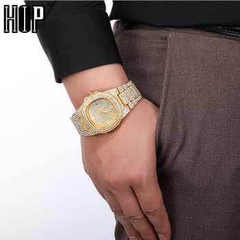 Hip Hop 3 Colors Men Iced Out Watches Luxury Date Quartz Wrist Watches With Micropave CZ Watch For Women Men Jewelry hip hop luxury mens iced out cz waterproof watches date quartz wrist watches with micropave alloy watch for men jewelry