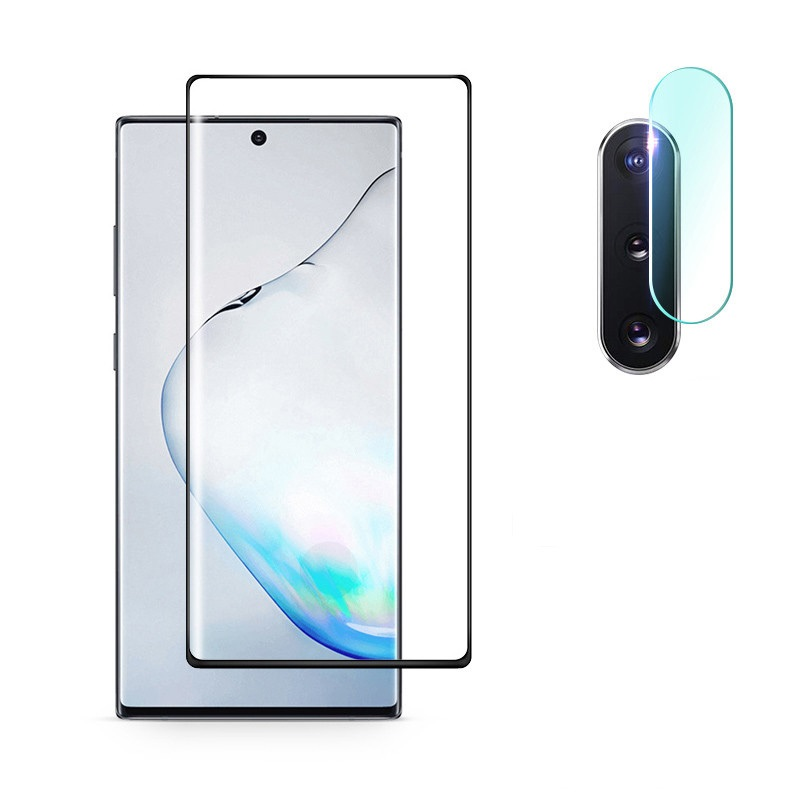 2 In 1 Screen Protector Tempered Glass For Samsung Galaxy Note 10 Plus Camera Lens Film For Samsung Note10 Plus Note10+ 10Plus