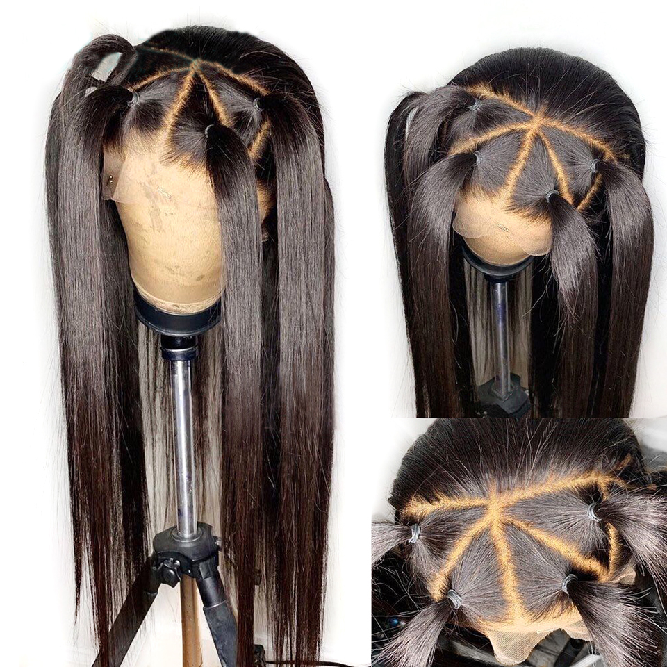 Eversilky Silk Base Top Full Lace Human Hair Wigs With Baby Hair Pre Plucked Straight Brazilian Remy Hair Black Wigs For Women