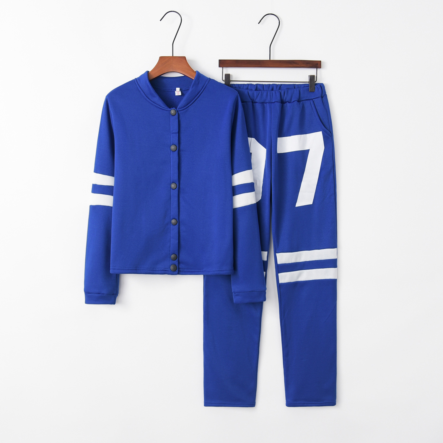 Number 07 2020 New Design Fashion Hot Sale Suit Set Women Tracksuit Two-piece Style Outfit Sweatshirt Sport Wear