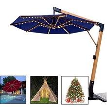 Solar Panel Regenschirm 104 LED String Licht Weihnachten Licht Im Freien Wasserdichte IP67 Schmücken Terrasse Haus Zelt Patry Garten Licht
