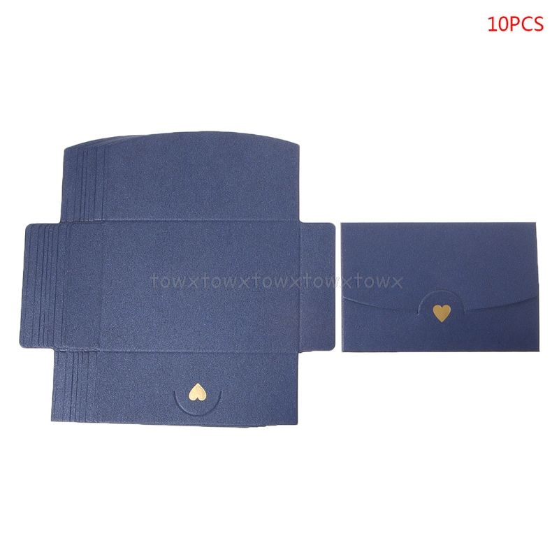 10pcs Blank Mini Heart Retro Paper Envelopes Wedding Party Invitation Envelope For Letter Greeting Cards  Au17 19 Dropship