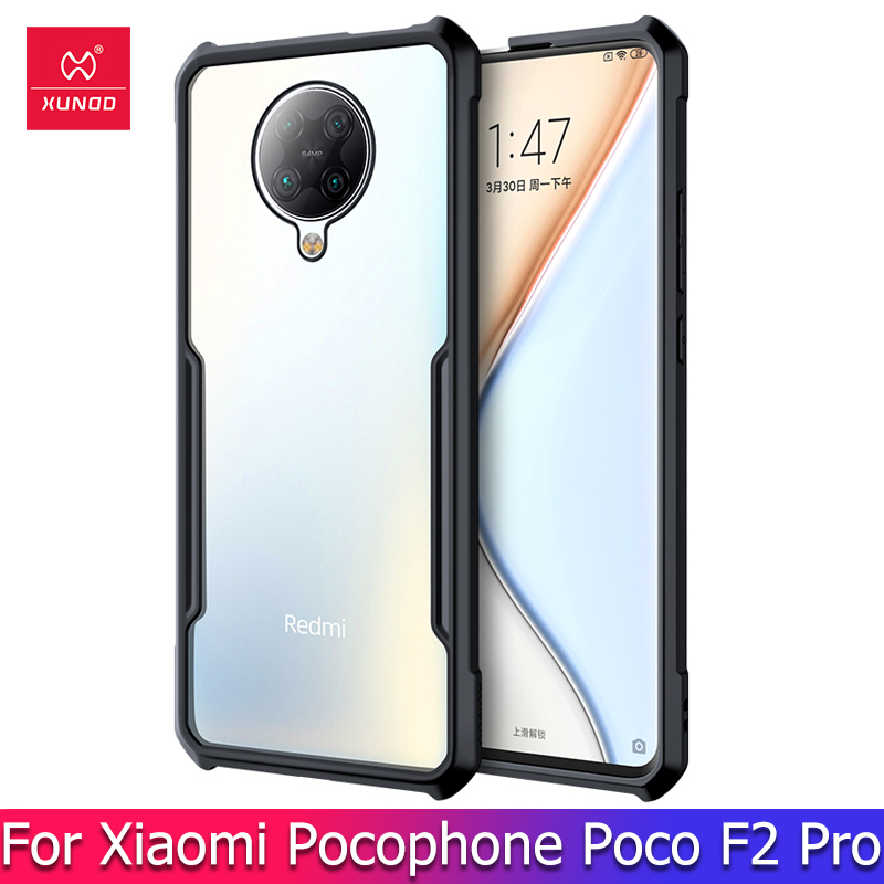 Xundd For Xiaomi Pocophone F2 Pro Case Shockproof Transparent Cover Airbag Protective Phone Clear Case For Redmi K30 Pro Case