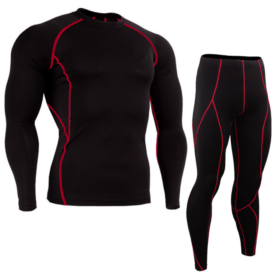 Men's Sports Suits Quick-drying Compression Men Sport Training Suit Gym Jogging Running Suit Men's Tight Fitness Workout Clothes