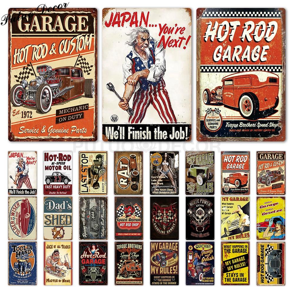 Retro metal Aluminium Sign vintage man cave Garage Dog Up