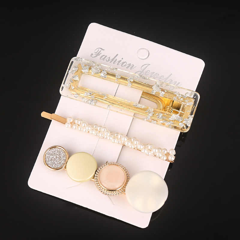 3Pcs Fashion Pearl Imitasi Manik-manik Jepit Rambut untuk Wanita Jepit Handmade Pearl Bunga Jepit Rambut Aksesoris