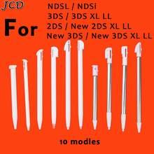 Jcd 1 pçs metal ajustável caneta stylus para nintendo 2ds 3ds novo 2ds ll xl novo 3ds xl ll para ndsl ndsi caneta de toque de plástico