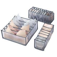 3 sztuk bielizna do przechowywania organizator Box 6 7 11 skarpety szalik biustonosz siatka szafa szuflada organizator składany szafa tkaniny kontener mieszkalny tanie tanio waasoscon CN (pochodzenie) NYLON Closet Storage Organizer support Underwear storage box
