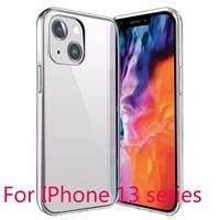 Funda de TPU suave y transparente 2021 Original para iPhone 11/12/13 Pro Max, cubierta protectora transparente, protección ultrafina para iPhone 13