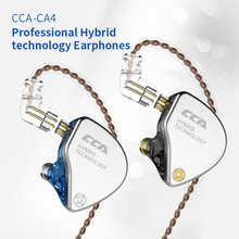 CCA CA4 In 1DD+1BA Hybrid Headphone In Ear Monitor 4Drive Unit Noise Cancelling Running Sports Earphone 2Pin Detacable Cable