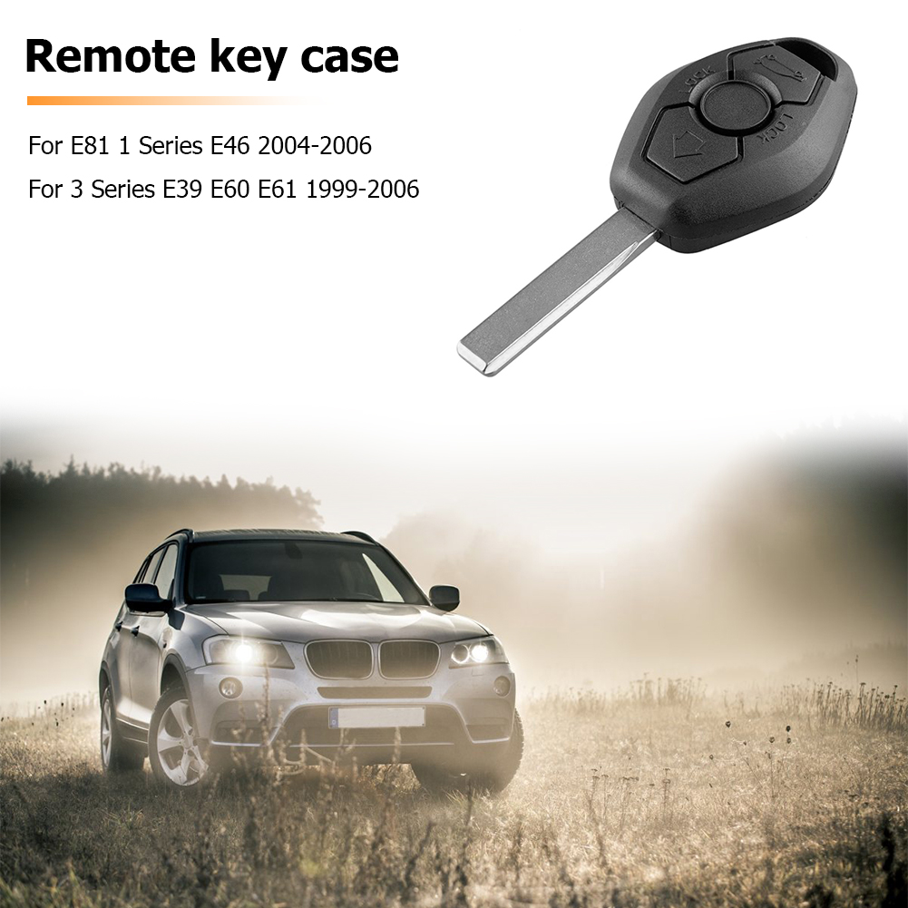 3 Buttons Remote Car <font><b>Key</b></font> Fob Case Replacement Car <font><b>Key</b></font> Shell for <font><b>BMW</b></font> E81 E46 E39 E60 E61 E63 E38 <font><b>E83</b></font> image