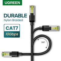 UGREEN Cable de Ethernet cable CAT 7 nailon resistente trenzado Internet de CAT7 Lan Cable para PS 4 Router gatos 7 10Gbps RJ45 Cable Ethernet