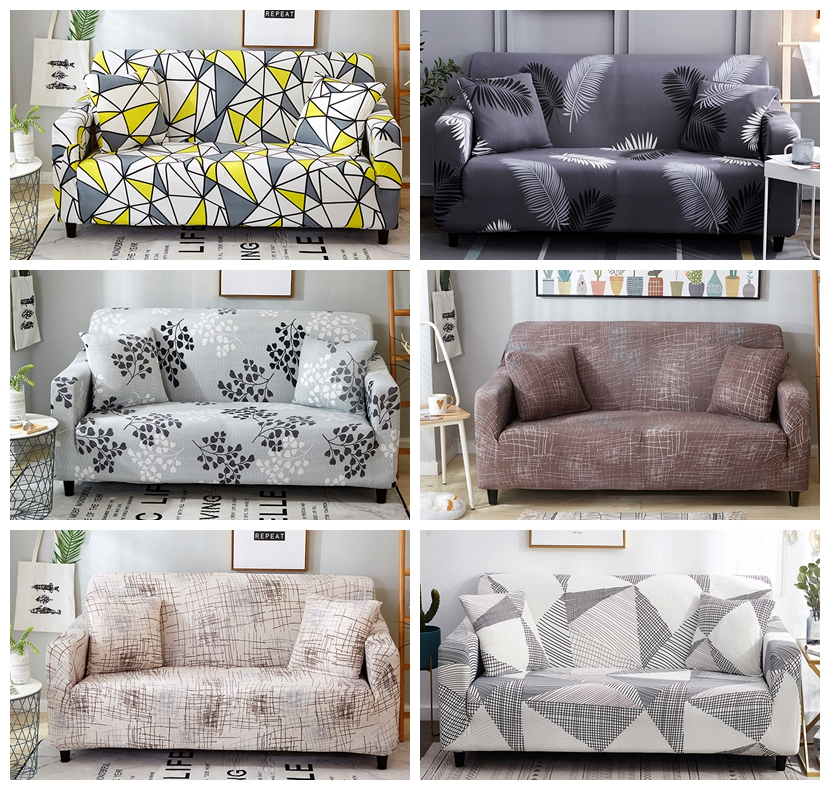 All- Sofa Cover Printed Elastic Cover Stretch Sofa Slipcovers Sectional Living Room Couch Cover Sofa Cover 1/2/3/4 Seat