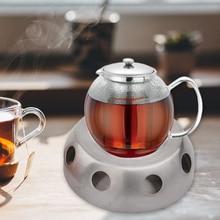 Чайник из нержавеющей стали нагревательный кронштейн свеча Отопление кофе молоко держатель для благовоний полка база Съемная круглая