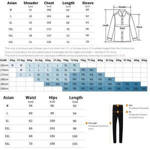 Image 5 - جديد الرجال مجموعات الأزياء الرياضية دعوى الدافئة التطريز سستة البلوز + Sweatpants الرجال الملابس 2 قطعة مجموعات سليم تراكسويت 2020