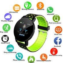 Reloj inteligente Bluetooth 119Plus para hombre, presión arterial, reloj inteligente para mujer, rastreador deportivo, WhatsApp para Android Ios PK B57 116 D13 M4
