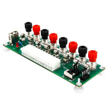 Electric Circuit 24Pins Atx Benchtop Computer Power Supply 24 Pin Atx Breakout Board Module Dc Plug Connector With Usb 5V Port(China)