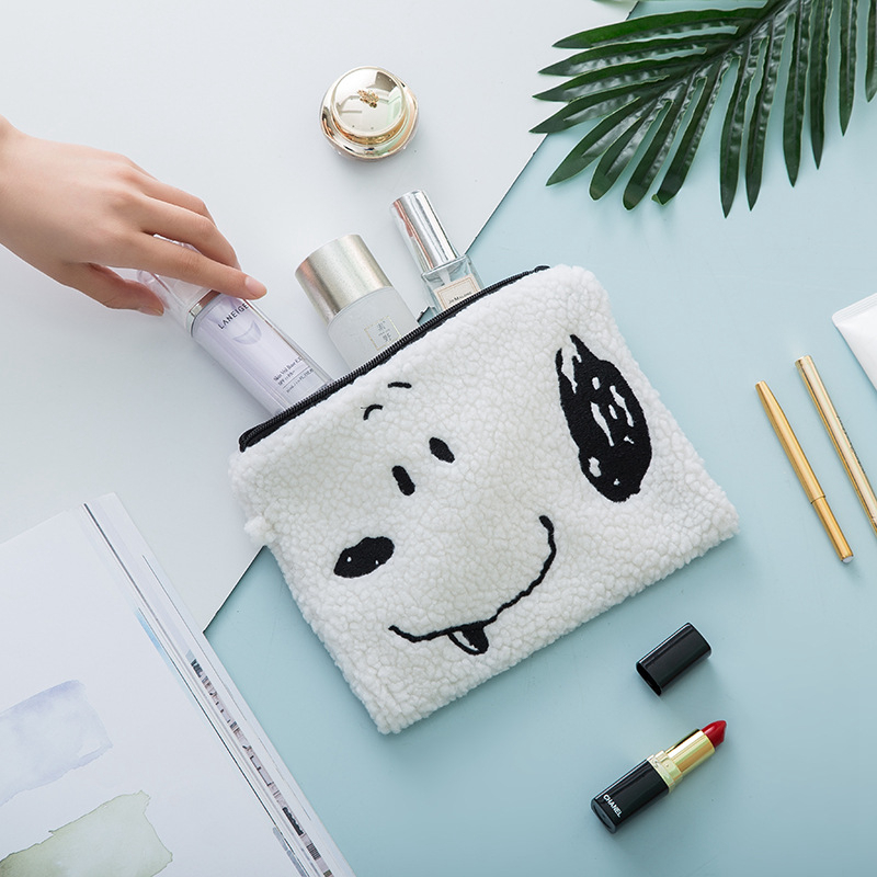 Cartoon Animal Dog Cosmetic Bag Travel Make Up Portable Makeup Organizer Toiletry Beauty Women Storage Zipper Pouch Wash Purse