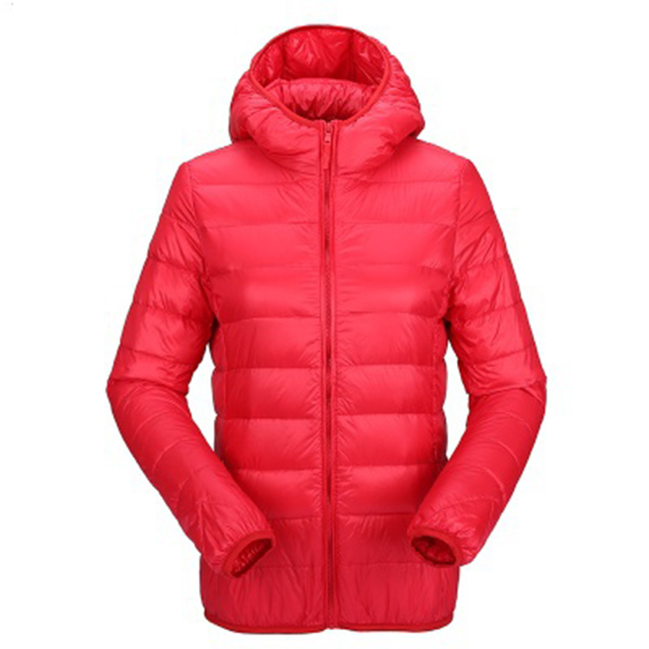 ZOGAA, женский ультра легкий пуховик с капюшоном, зимние куртки-пуховики на утином пуху, женская тонкая парка с длинным рукавом, пальто на молн...