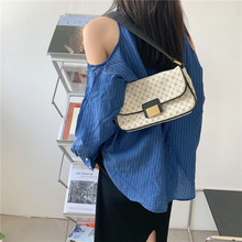 Luxury Handbags Travel Design Fashion Geometric Printing Female Women Brand PU