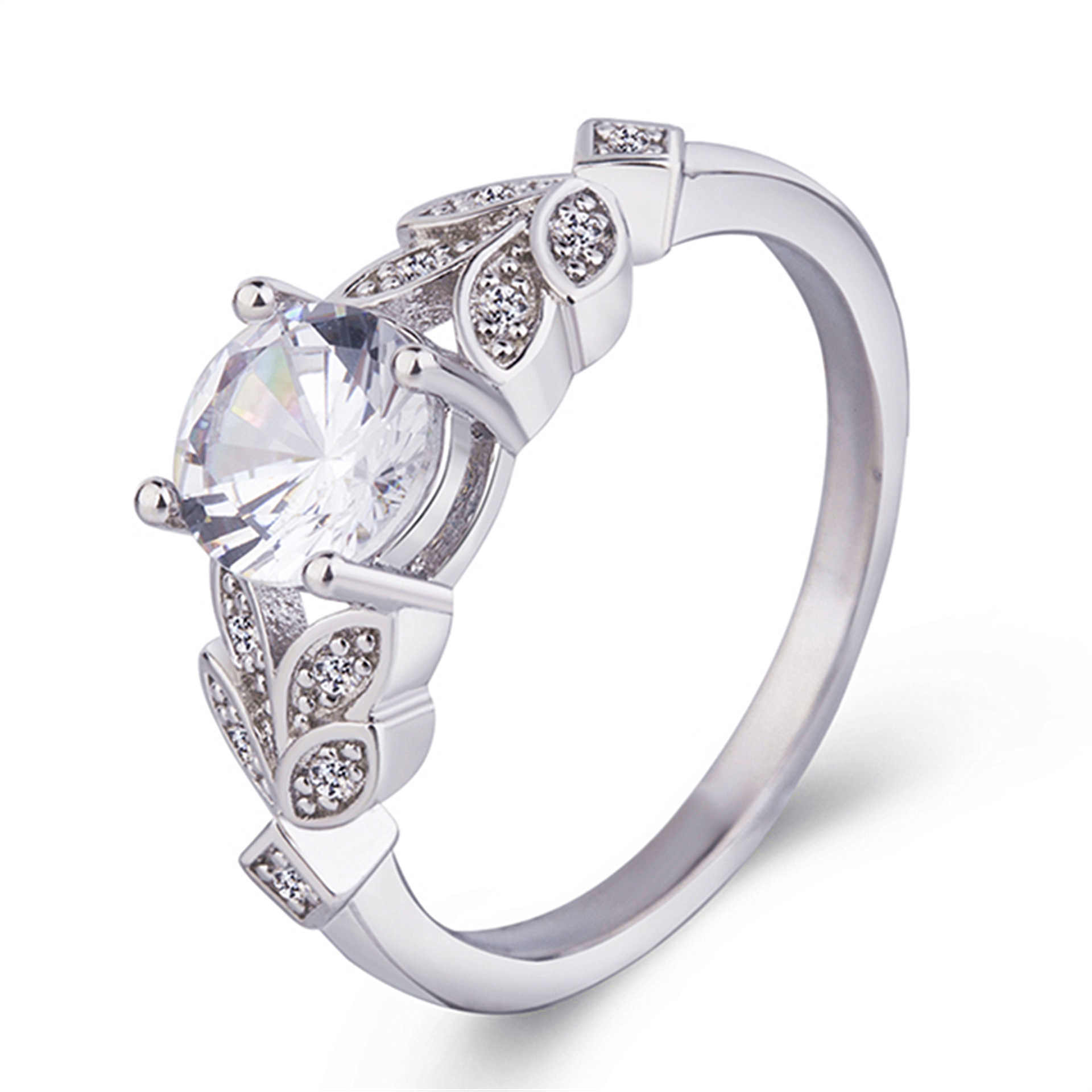 Wish Hot Sales Foreign Trade Wedding Ring Fashion Jewelry Women's Ring Inlaid Super Shiny Zircon Rings Manufacturers Wholesale