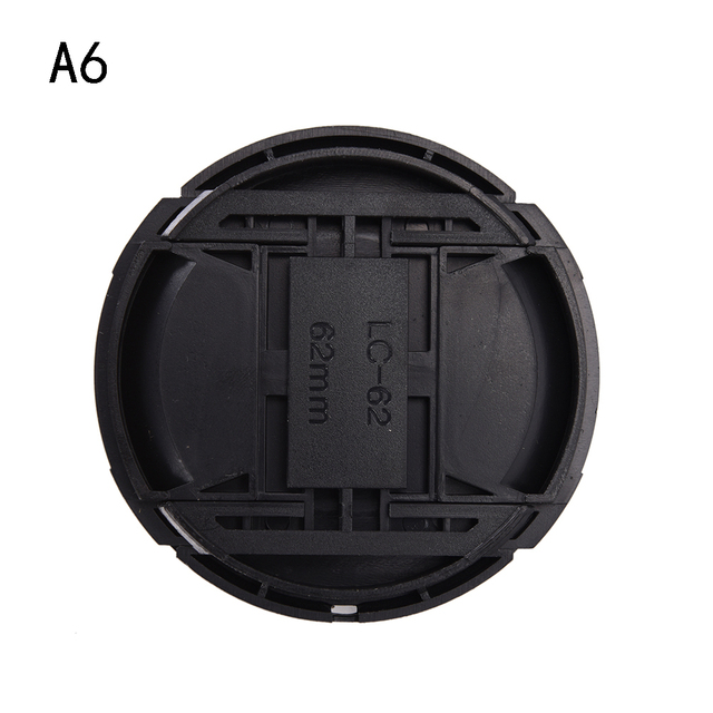 Hot Sale Center Snap-on Front Lens Cap Hood Cover For Nikon Camera Lens With Strap 40.5 49 52 55 58 62 67 72 77 Mm