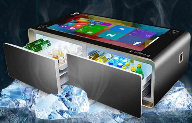 """21,5 32 43 """"дюймовый lcd мульти сенсорный экран дисплей журнальный столик функция AIO Игры стол с холодильник и динамик Встроенный"""