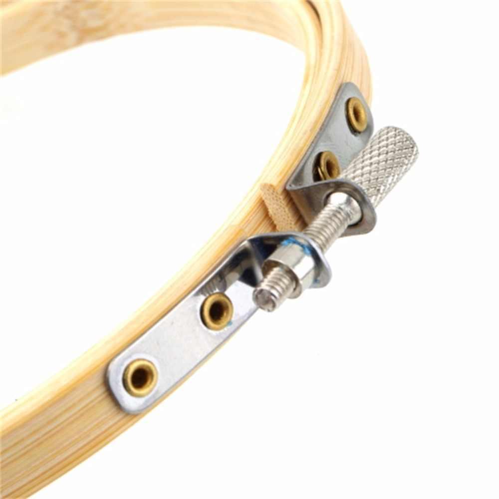 Handy de madeira cruz máquina de ponto bordado aro anel de costura de bambu 13-30cm acessórios de costura ferramentas