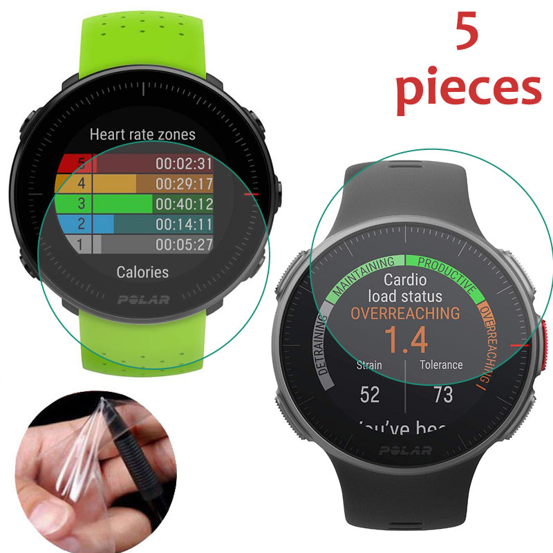 5pcs Soft TPU Smartwatch Clear Protective Film Guard For Polar Vantage V M Sport Smart Watch Full Screen Protector Cover
