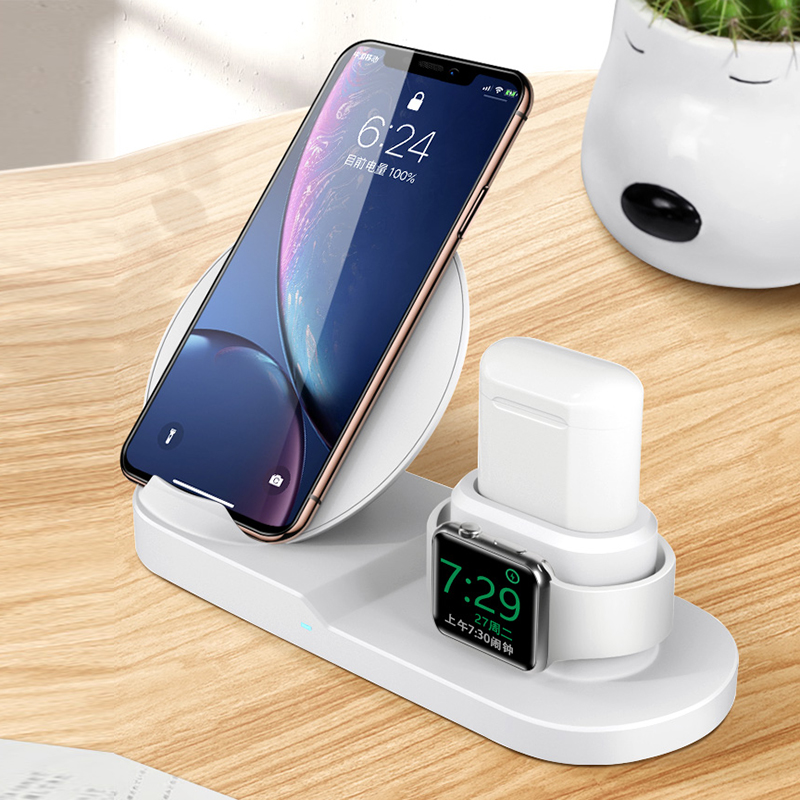 3 IN 1 QI Wireless Charger for iPhone 11 PRO Max Apple Watch iWatch 1 2 3 4 5 Airpods 10W Fast Wirelss Charger 6