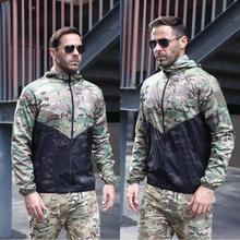 Jackets Skin-Suit Hunting-Coats Tactical Camouflage Entertainment Windbreaker Hooded