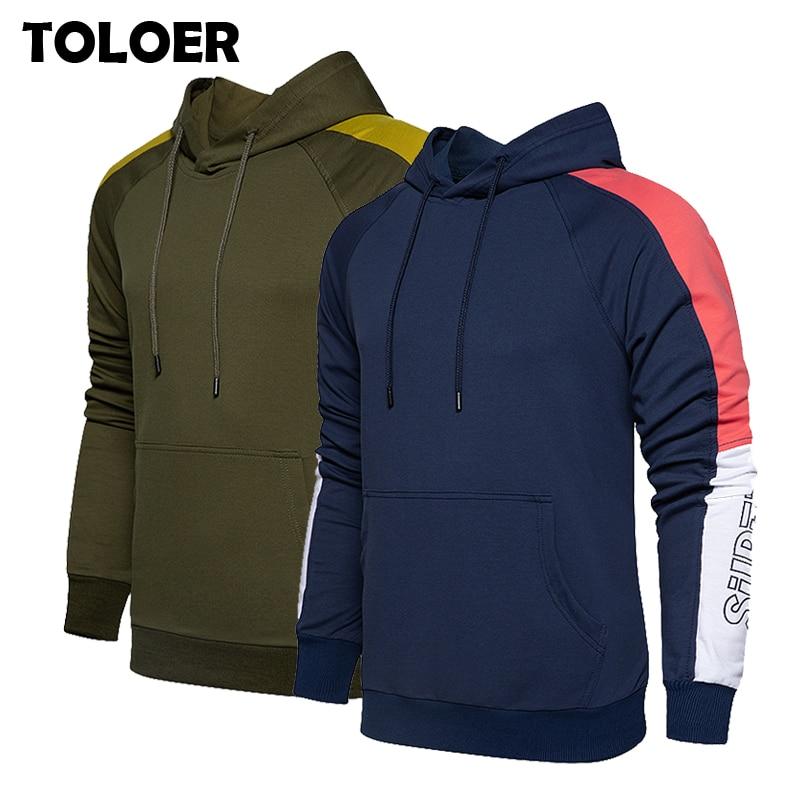 Splice Hoodies Men Oversize Sweatshirt Letter Print Hoodie Autumn Winter Warm Thick Hoodies Male Couple EU Plus Size S-2XL Hoody