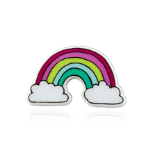 Fashion Colorful Enamel Pin Brooches For Women Cartoon Creative Mini Rainbow Metal Brooch Pins Denim Hat Badge Collar Jewelry sitaicery white cartoon smile teeth enamel brooches pin for nurse dentist hospital lapel pin hat bag pins shirt women brooch
