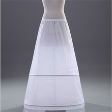 TULX Brand New A-line Petticoats White 2-Hoops Underskirt Crinoline for Wedding Dress Bride Gown In Stock Wedding Accessories