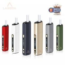 Original LAMBDA CC Heat Not Burn Device Tobacco Vaporizer 3200mAh Vape Kit Compatible with IQ0S HeatSticks
