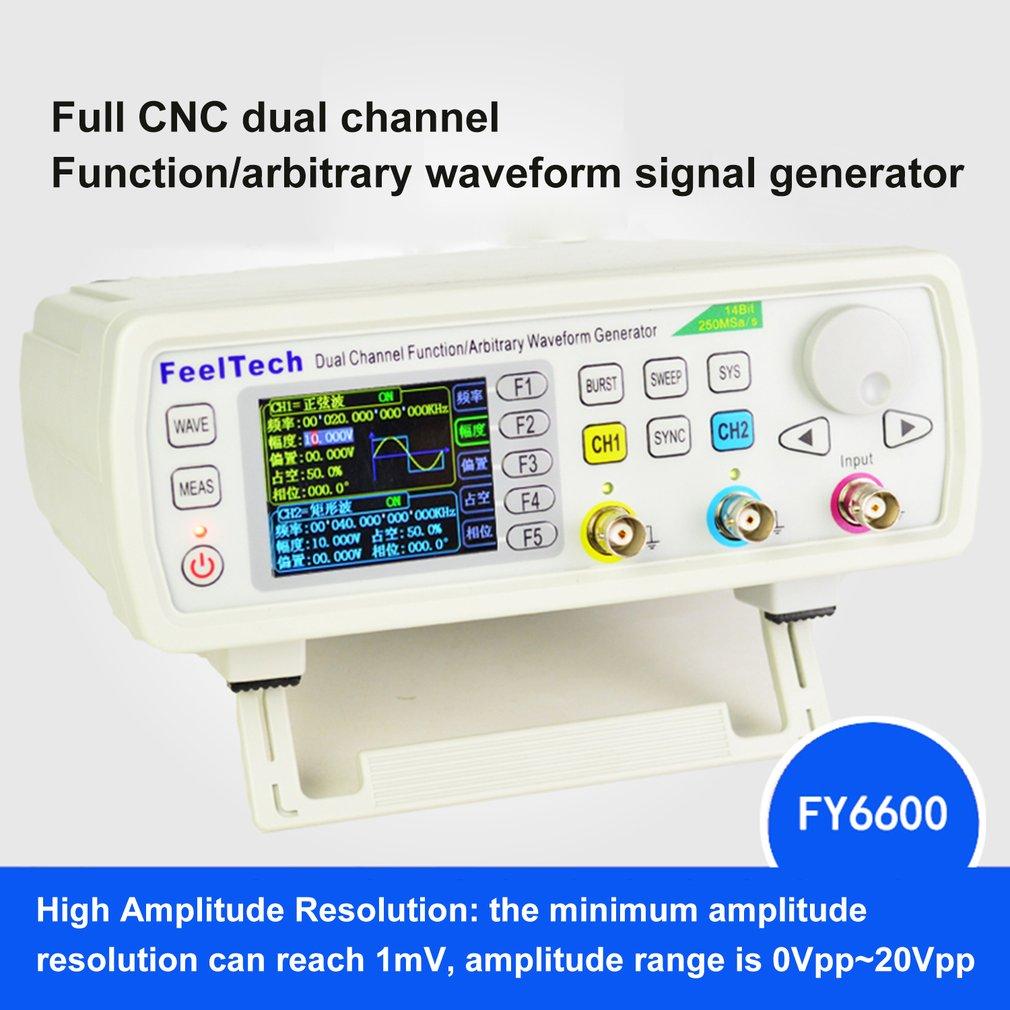 FellTech FY6600-60M 60MHZ Digital Control Dual-channel DDS Function Signal Generator Frequency Meter Arbitrary US/EU/UK/AU