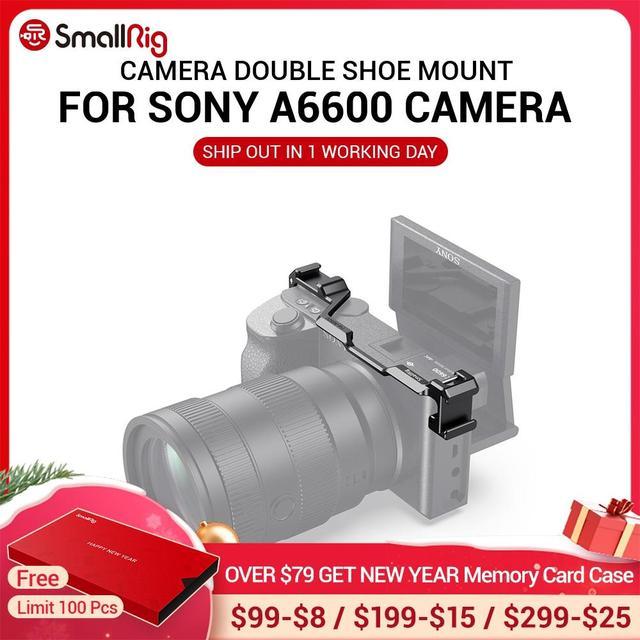 SmallRig נעל הר רילוקיישן צלחת עבור Sony a6600 מצלמה Vlog Rig עבור מיקרופון או פלאש אור לצרף 2498