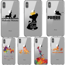 Moonlight Lion King Hakuna Matata Print Soft Back Cover Phone Case For iPhone 11 Pro Max  X 5 5S SE 6 6SPlus 7 8 Plus XS MAX XR