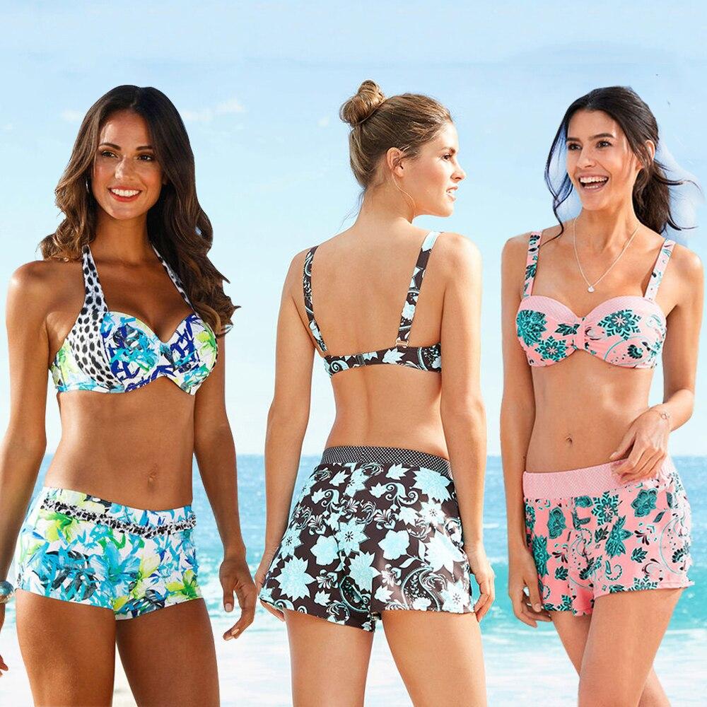 2020 New Sexy Push Up Bikini Swimwear Print Swimsuit Female Bikini Halter Summer Beach Swim Wear Bathing Suit Women S-XL