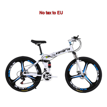 24 speed mountain bike 24 26 inch folding bicycle knife wheel disc brake bikes Male Female adult outdoor travel mountain bicycle cheap kaimarte STEEL Unisex Aluminum Alloy 19kg 150kg 21kg Oil Spring Fork (Spring Resilience Oil Damping) Double Disc Brake 24 26inch