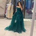 BEPEITHY/зеленое кружевное вечернее платье с русалочкой; Элегантные вечерние платья с открытыми плечами; Модель 2021 года; Длинное платье со съем...