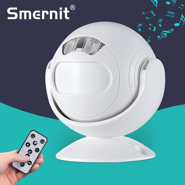 Wykrywacz ruchu witamy dzwonek 4 funkcje PIR sklep wejście do sklepu czujnik ruchu Alarm indukcyjny na podczerwień dzwonek do drzwi lampka nocna