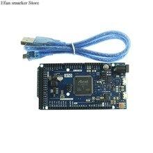 5 pces kj292 due 2012 r3 placa at91sam3x8e arm 32 bit para arduino com conjunto de cabo dados