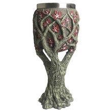 Resin Stainless Steel Coffee Mugs Tree of Life Cool Tea Cups Creative Drinkware