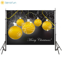 Sensfun Christmas Backdrop Photography Flashing Yellow Light Bulb fotografia Photo Studio Background Christmas Decor Backdrops kate blue snow photo backdrop christmas with trees bokeh light backdrops fotografia washable and seamless baby shower backdrop