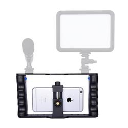 Professional Dual Handheld Smartphone Photographic Bracket Holder Cage Rig DIY Phone Video Stabilizer for Smartphone